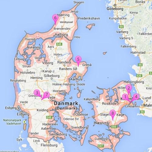 kart over fornøyelsesparker danmark Sommerland, dyreparker og forlystelsesparker i Danmark   Sommerhus.dk kart over fornøyelsesparker danmark
